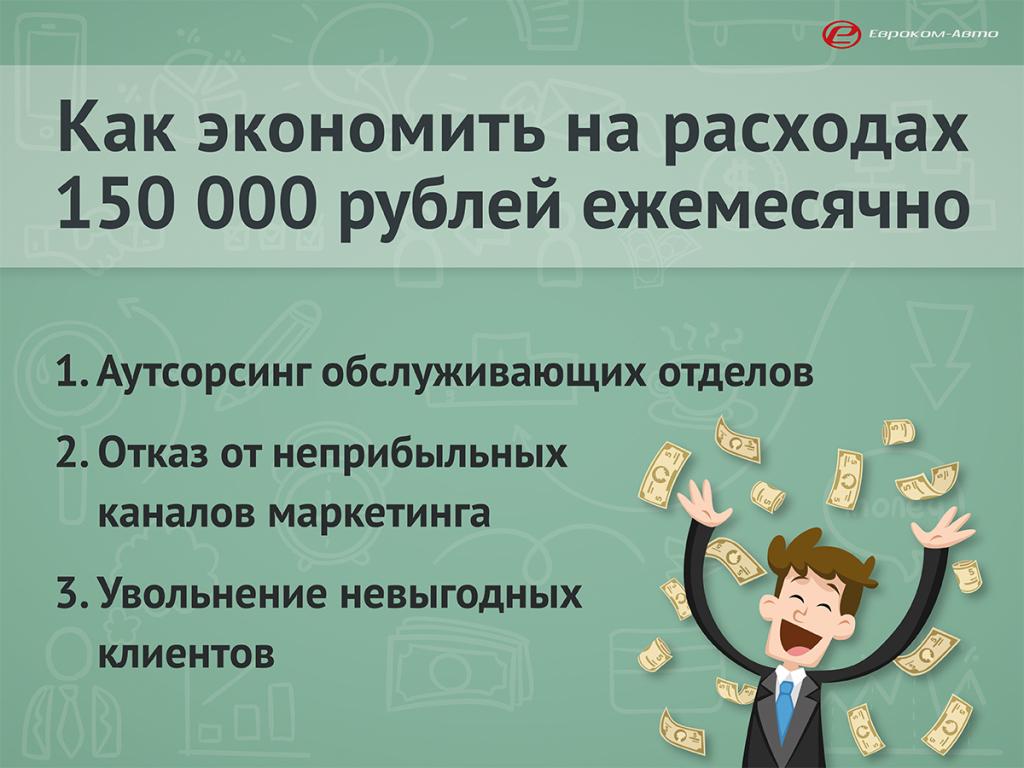 Как экономить 150 000 рублей